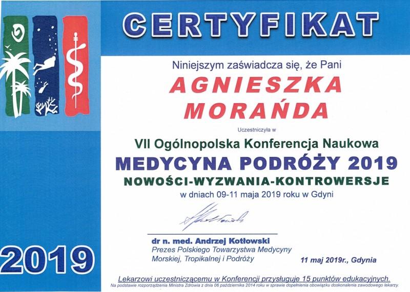 VII Ogólnopolska Konferencja Naukowa - Medycyna Podróży 2019