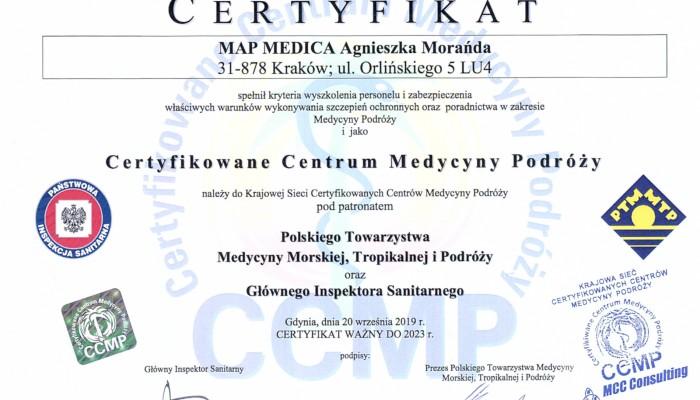 Certyfikowane Centrum Medycyny Podróży